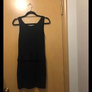 Zara black mini dress size L